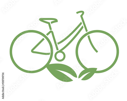 Logo Bicicletta Ecologica Vettoriale Buy This Stock Vector And