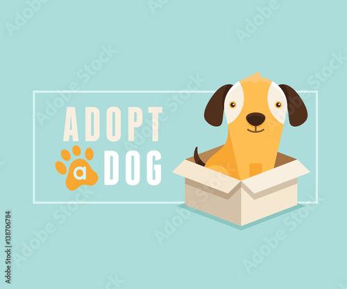 Adopt a dog banner design Wallpaper Mural