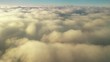 Footage of some clouds, from above, moving.