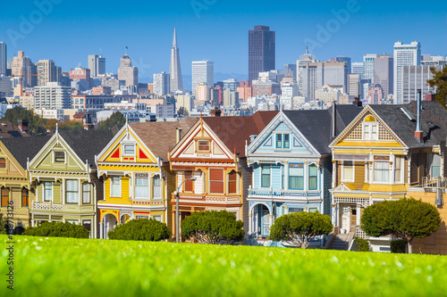Canvas Prints San Francisco Painted Ladies at Alamo Square, San Francisco, California, USA