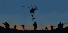 Illustration, The Soldiers Goi...