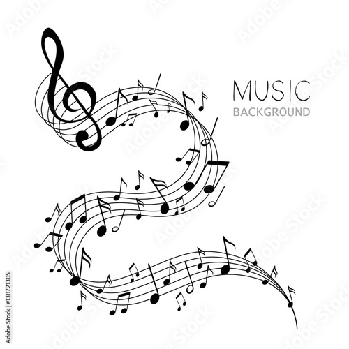 Vector Illustration of an Abstract Music Design - 138721305