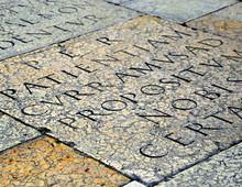 Steinerne Bodenplatten Im Dom Santa Maria Matricolare In Verona