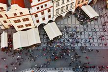 People On The Main Prague Squa...