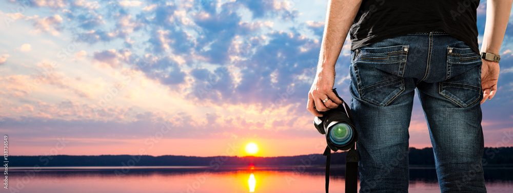 Fototapety, obrazy: photographer photographic camera dslr photo person passion outdoor