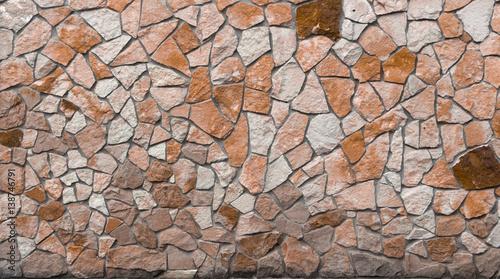 In de dag Stenen Wall of sandstone arbitrary natural form