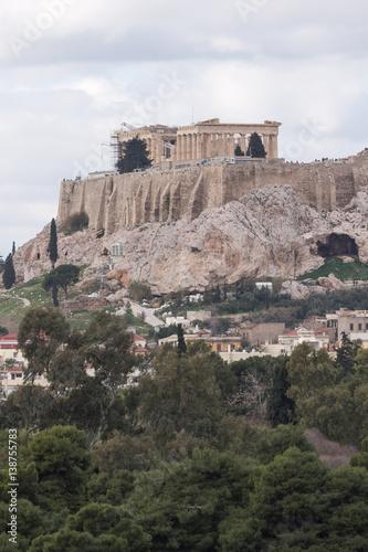 Printed kitchen splashbacks Athens Amazing view of the Acropolis of Athens, Attica, Greece