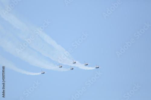 Obraz na plátne The Thunderbirds over the Atlantic ocean in Florida