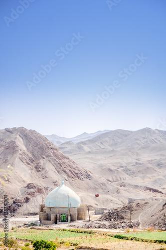 Fotobehang Midden Oosten View on Mosque by Kharanaq in Iran