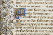 Leinwanddruck Bild - illuminated manuscript detail