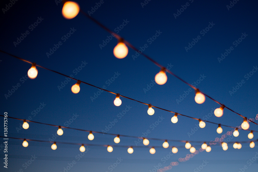Fototapety, obrazy: Hanging Lights at Night