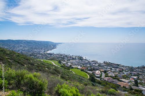 Aluminium Prints Los Angeles View of Laguna Beach, Southern California