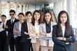 Asian Business team walking, protrait business concept.