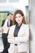 Asian Business woman smile, protrait business concept.