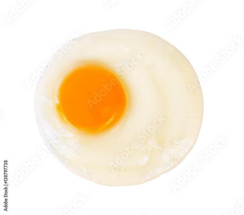 Foto op Plexiglas Gebakken Eieren Fried egg isolated on white background.