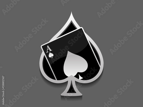 Photo  Ace of spades card logo