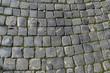 Roman stone walkway in Rome, Italy
