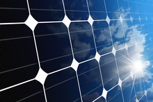 Close-up Of A Solar Panel With...