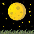 full moon illustration vector design