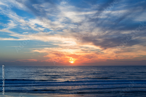 Foto-Stoff - Atlantic ocean sunset, Lacanau France