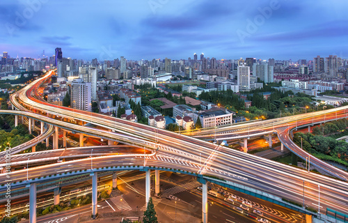 Poster Seoel Elevated highway and overpass in modern city
