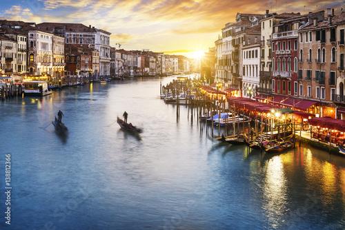 Grand Canal at night, Venice Obraz na płótnie