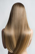 canvas print picture - Portrait Of A Beautiful Young Blond Woman With Long Straight Hair. Back View
