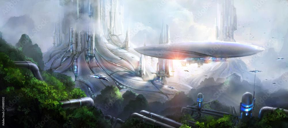 Fototapety, obrazy: Science fiction scene.