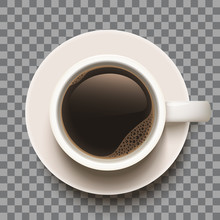Coffee Cup 3d Illustration On Transparent Background. Isolated Object. Eps10 Layered Vector.