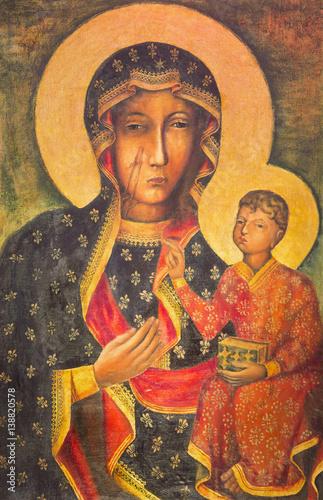Obraz Obraz Matki Boskiej Częstochowskiej - fototapety do salonu