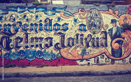 Deurstickers Buenos Aires SAN TELMO, BUENOS AIRES, ARGENTINA - NOV 24, 2014: Grafitti on the wall, San Telmo, Buenos Aires Argentina