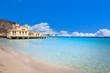 canvas print picture - Mondello beach in Palermo, Sicily