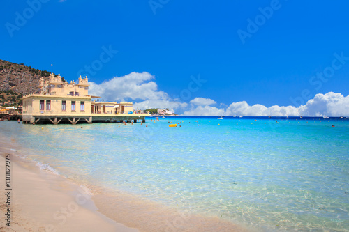 Photo sur Toile Palerme Mondello beach in Palermo, Sicily