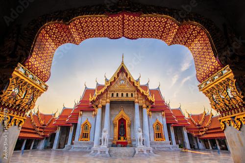 Poster Lieu connus d Asie MARBLE TEMPLE - BANGKOK THAILAND