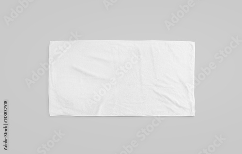 Fotografering Black white soft beach towel mockup