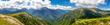 Gipfelpanorama über die Nockberge in Österreich