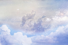 """Artistic Rendition Of Clouds And Space Using """"Elements Of This Image Furnished By NASA"""""""