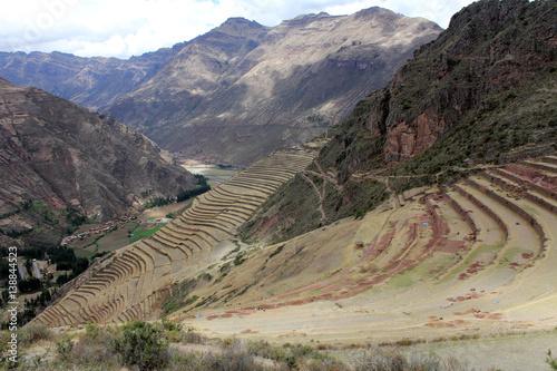 Fotografie, Obraz  Inca structures in the urban sector of Pisac