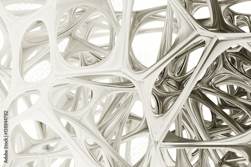Rendering abstract bionic structure - 138844782