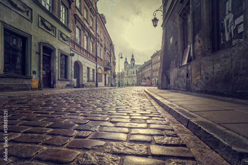 Valokuva Cobbled street of the old town