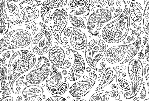 Photo  Paisley ornament, seamless pattern for your design