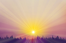 Vector  Sunset   Background.