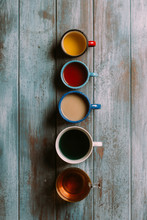 Different Types Of Tea On A Gr...