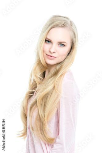 Fotografie, Obraz  Portrait of a beautiful blonde isolated.