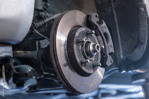 Car brake disc Canvas Print