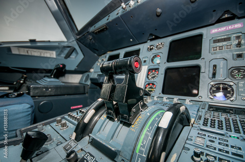 Fotografia  plane inside the cockpit