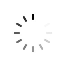 Vector Loading Black Icon On W...