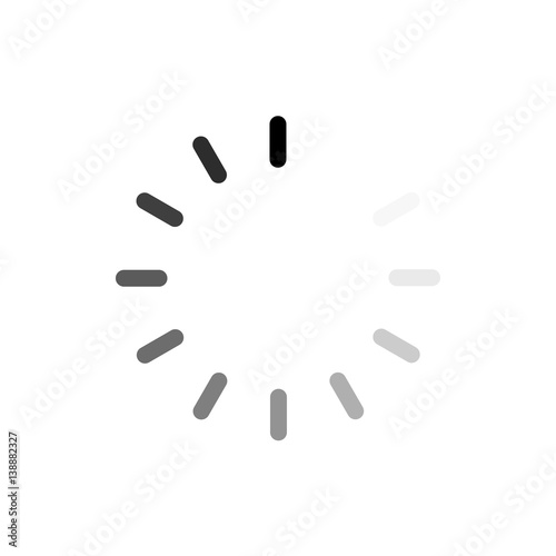 Vector loading black icon on white Wall mural