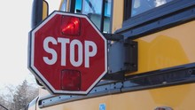 School Bus Stop Paddle Being Extended