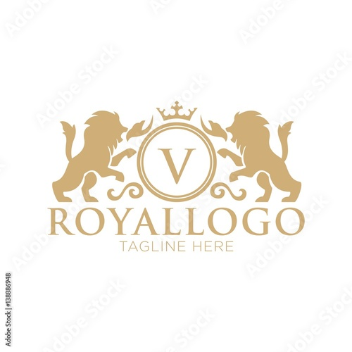 Foto  Royal logo design template